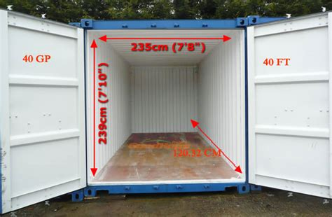 40 ft container dimensions 40 container loading
