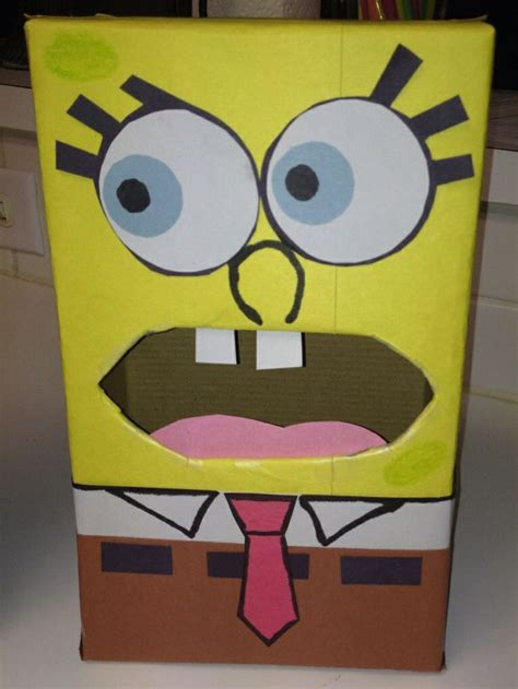 spongebob box spongebob valentines box school projects