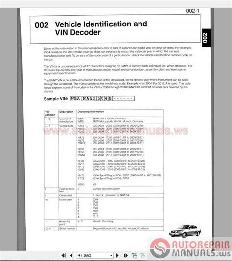 free online car repair manuals download 2010 bmw 6 series user handbook bmw 5 series e60 e61 2003 2010 service repair manual auto repair manual forum heavy