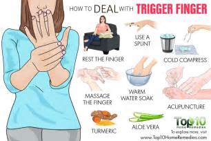 how to finger how to deal with trigger finger top 10 home remedies