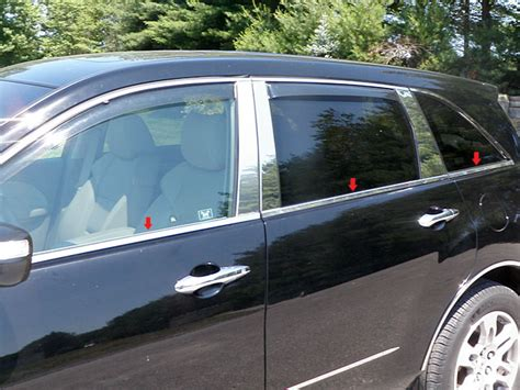 acura mdx 2008 accessories acura mdx chrome window sill trim 2007 2008 2009 2010