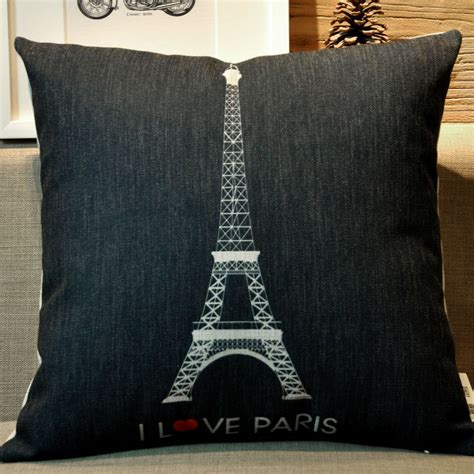 couch tower ikea paris eiffel tower black whilte decorative linen