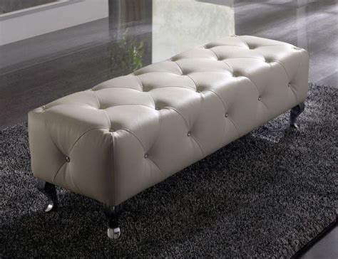 luxe italian designer tufted leather floor mirror custom nelly contemporary bench in white or black leather prime