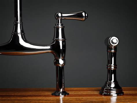 bridge kitchen faucet with side spray rohl bridge faucet with side spray