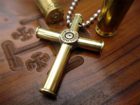 Bullet Cross Pendant Necklace bullet casing cross pendant necklace medium sodas