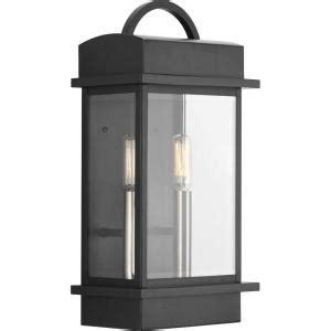progress lighting santee collection 2 light outdoor black