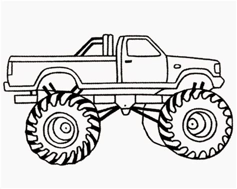 monster truck coloring pages for kids az coloring pages