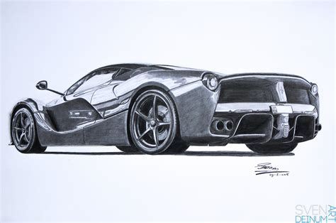 ferrari laferrari sketch ferrari laferrari finished by sd1 art on deviantart
