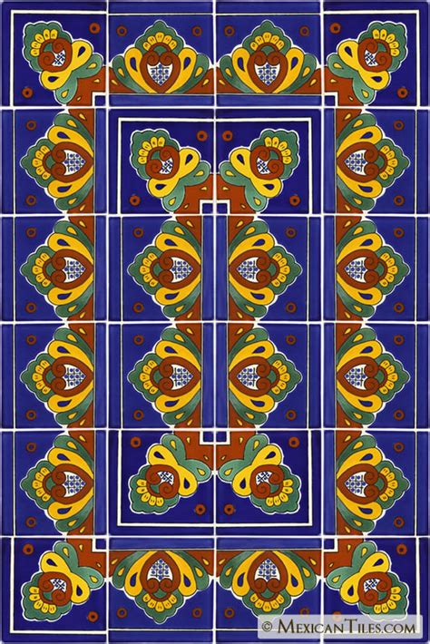 mexican tile decorative talavera tile set x7021