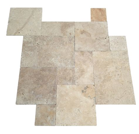installing french pattern travertine tiles tumbled travertine tile french pattern ivory swirl