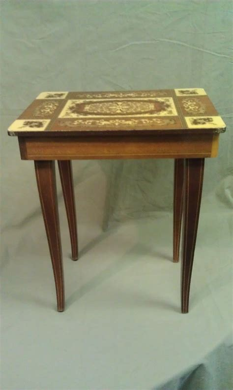 Musical Table by 8u96 Vtg Box Table Mathey Switz And 50 Similar Items
