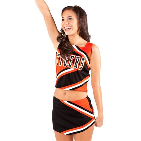 cheerleading uniforms cheer tops skirts strappy