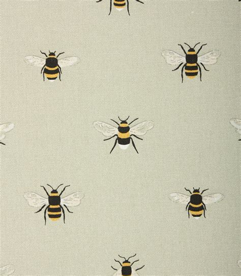 bee upholstery fabric roman blind sophie allport bees fabric interlined