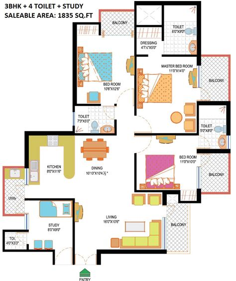 study room floor plan nimbus hyde park resale price flats noida sector 78 ready