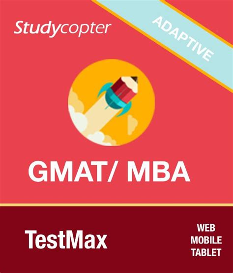 One Year Mba No Gmat by Studycopter Gmat Mba Testmax Mobile Capable