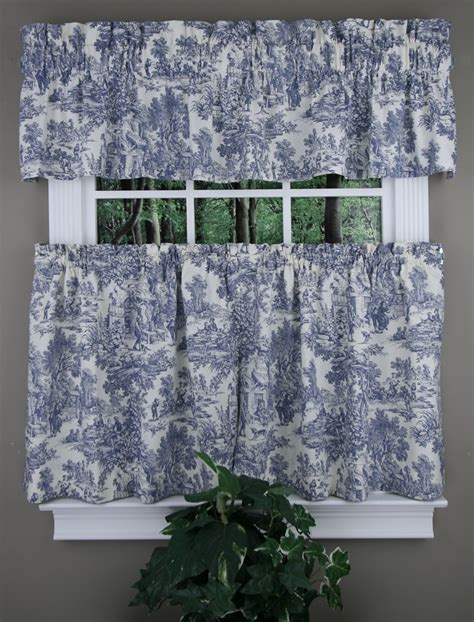 park toile tiers tailored valance black ellis country kitchen curtains