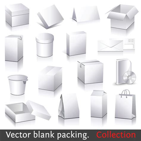 blank packaging templates different blank packaging design vector set 01 vector