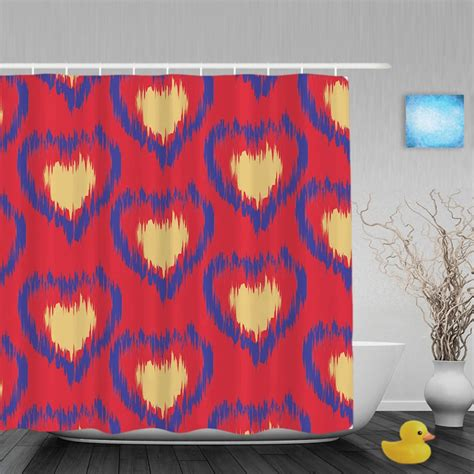 Ideas For Ikat Drapes Design Ikat Ogee Background Pattern Bathroom Shower Curtain