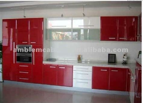 red lacquer kitchen cabinets red lacquer kitchen cabinet amblem china manufacturer