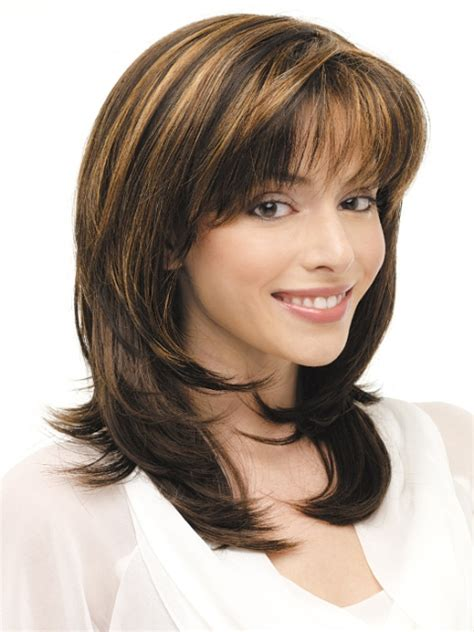 mid length layered haircuts for full face 16 striking layered hairstyles for medium length hair