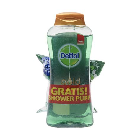 Sabun Dettol Gold jual monday momsday dettol gold wash daily clean sabun cair 300 ml shower puff
