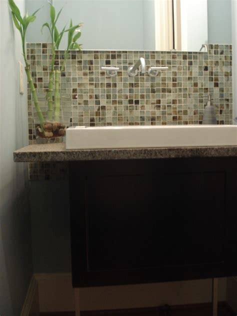 Modern Bathroom Backsplash Beautiful Backsplash In A Modern Bathroom Renovation