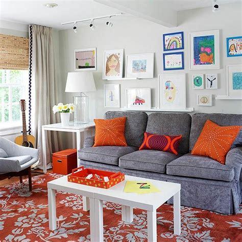 Salon Gris Et Orange by D 233 Coration Salon Gris Et Orange
