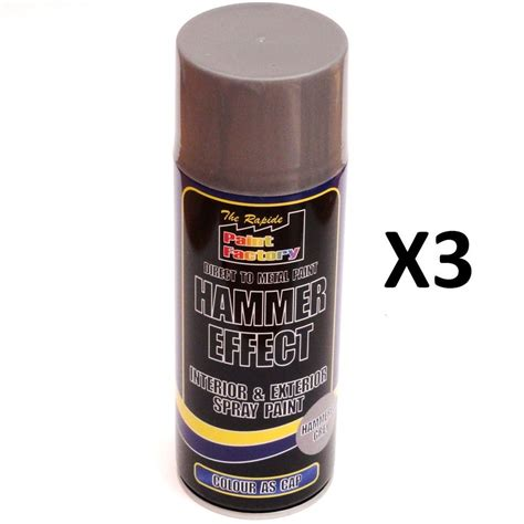 spray paint effects 3 x grey hammer effect spray paint 400ml can interior