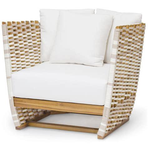 outdoor club chair palecek san martin modern classic salt rope wrapped
