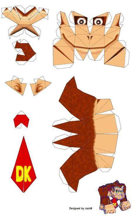 Kong Papercraft - kong nintendo papercraft