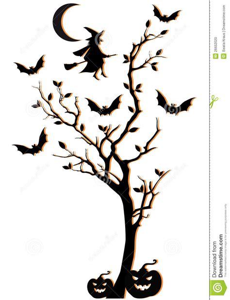 halloween tree vector background stock photo image