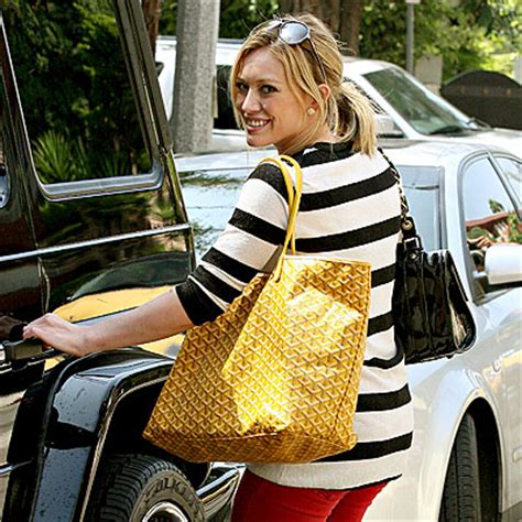 Other Designers Hilary Duff With Designer Travel Bags by Calling The Goyard St Louis Pm Vs Gm Help