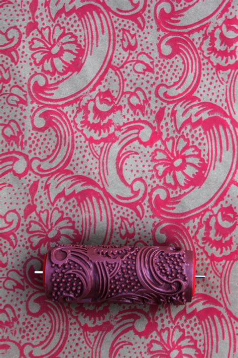 paint rollers with designs etsy your place to buy and sell all things handmade