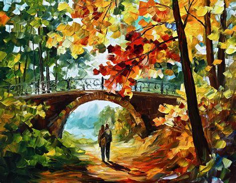 Home Decor App park bridge painting by leonid afremov
