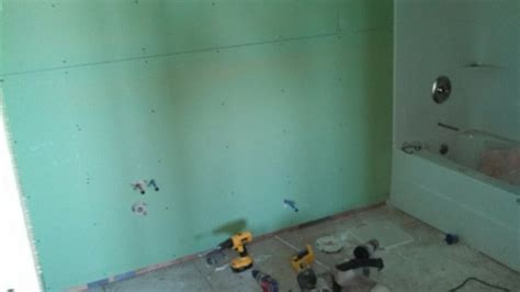 sheetrock for bathroom your guide to water resistant greenboard drywall modernize