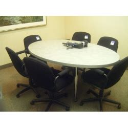 White Oval Meeting Table Oval Meeting Conference Table White Chrome Legs Allsold Ca Buy Sell Used Office