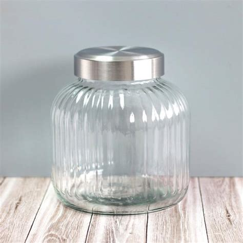 vintage style glass barrels large pantry storage