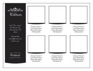 line sheet template minimalist line sheet or wholesale catalog template ribbon