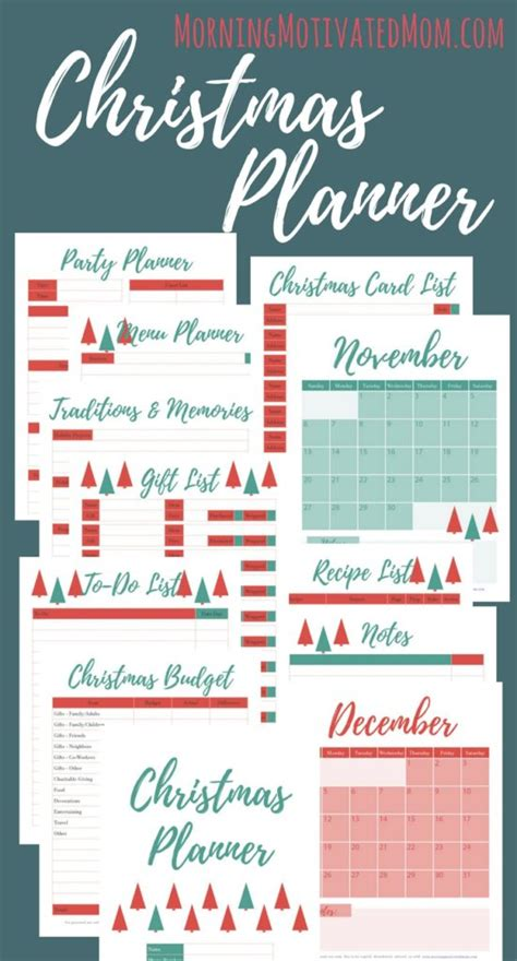 printable christmas party planner morning motivated mom balancing motherhood early in
