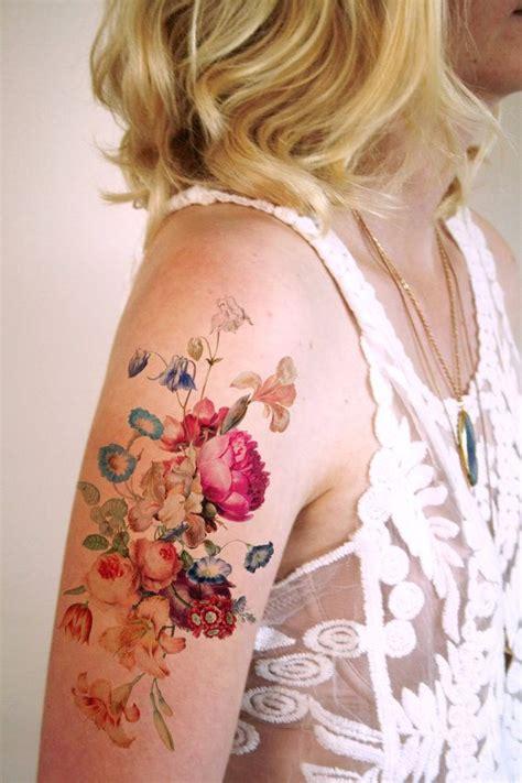 tattoo flower vintage 15 temporary tattoos every hopeless romantic will love