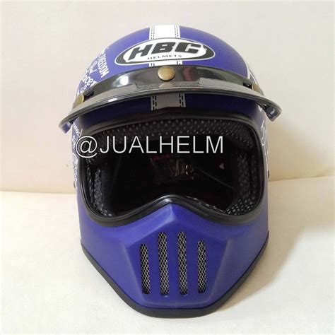 Helm Cakil Hbc Steve The Legend Orange helm cakil hbc steve the legend biru elevenia