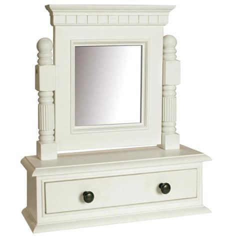 Mirror With Drawer georgiano range white dressing table swing mirror with