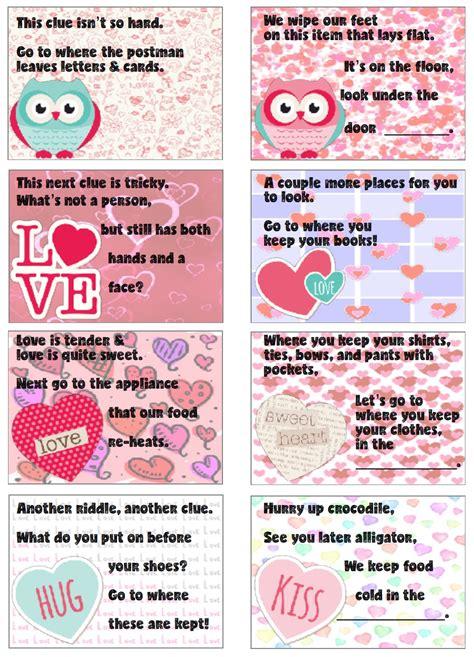 valentines treasure hunt free printable s day treasure hunt 24 clues