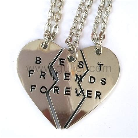 best for 3 personalized friendship necklaces jewelry set for 3