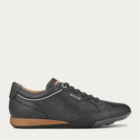 bally sneakers womens bally fridia s leather sneaker in black in black lyst