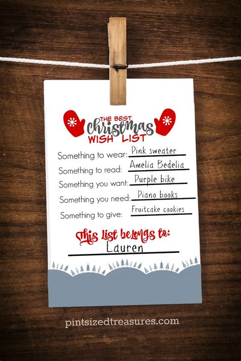 the best printable christmas wish list for kids 183 pint