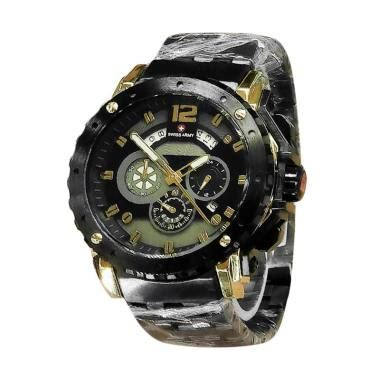 Jual Jam Cowo Swiss Army Chrono Paket Black Kepala Rosegold Brown jual swiss army chrono sa x 10231a jam tangan pria black gold harga kualitas