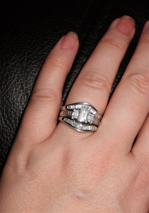 what do you wear on top engagement ring or wedding band