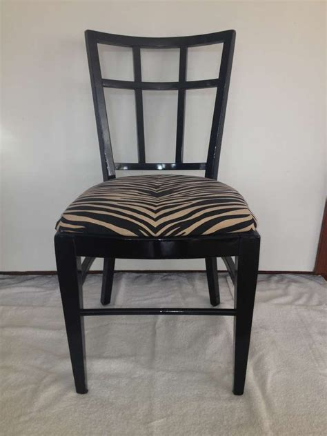 Black Lacquer Dining Room Chairs by Cafe Carlyle Set Of Six Black Lacquer Dining Chairs For