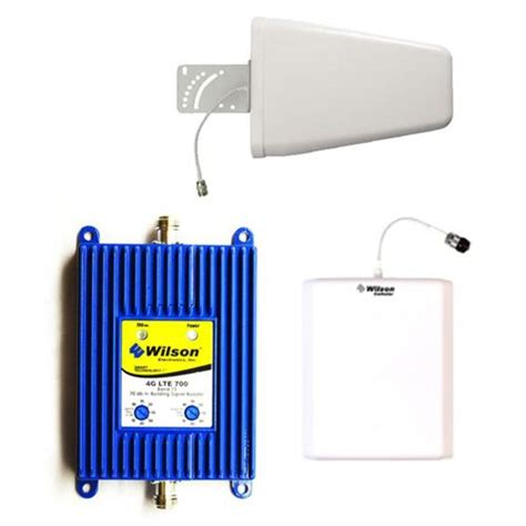wilson electronics 4g signal booster repeater lte 700 with periodic directional antenna kit for